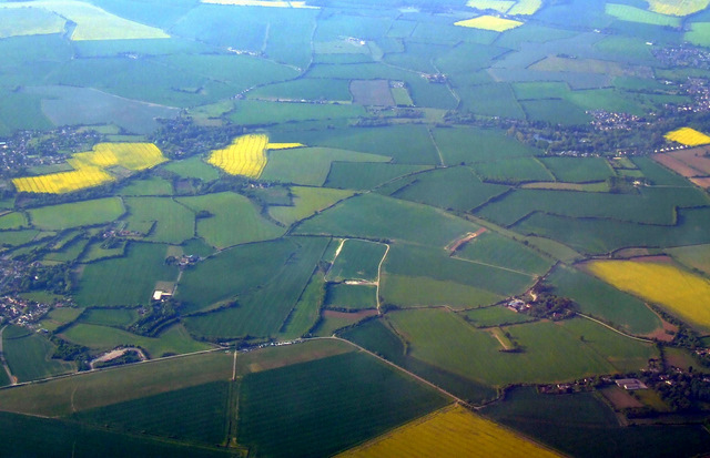 A photo of farmland where the airfield used to be